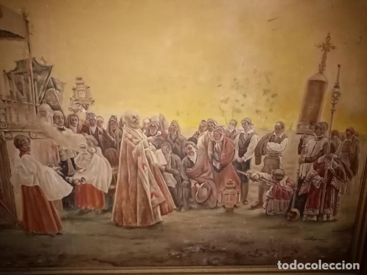 Arte: cuadro antiguo procesion - Foto 5 - 68341573
