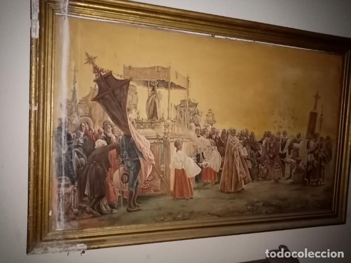 Arte: cuadro antiguo procesion - Foto 6 - 68341573