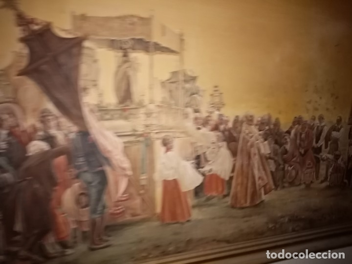 Arte: cuadro antiguo procesion - Foto 7 - 68341573
