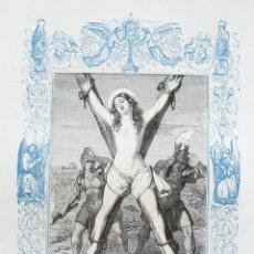 Arte: SANTA EULALIA DE BARCELONA, VIRGEN Y MARTIR - GRABADO DÉCADAS 1850-1860 - BUEN ESTADO. Lote 172898808