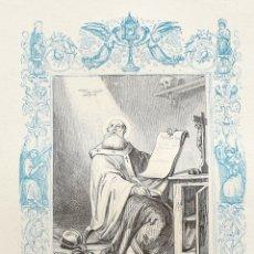 Arte: SAN BASILIO EL MAGNO, OBISPO Y FUNDADOR- GRABADO DÉCADAS 1850-1860 - BUEN ESTADO. Lote 172899075