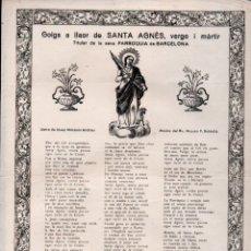 Arte: GOIGS A LLAOR DE SANTA AGNÉS (1948). Lote 172923968