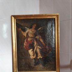 Art: CUADRO DEL ARCÁNGEL SAN GABRIEL PINTADO AL OLEO SOBRE LIENZO S.XVIII. Lote 169825769