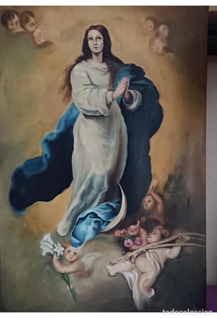 ÓLEO SOBRE LIENZO INMACULADA CONCEPCIÓN 92X60 (Arte - Arte Religioso - Pintura Religiosa - Oleo)