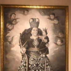 Arte: ÓLEO DE LA VIRGEN DEL ROSARIO. Lote 173026927