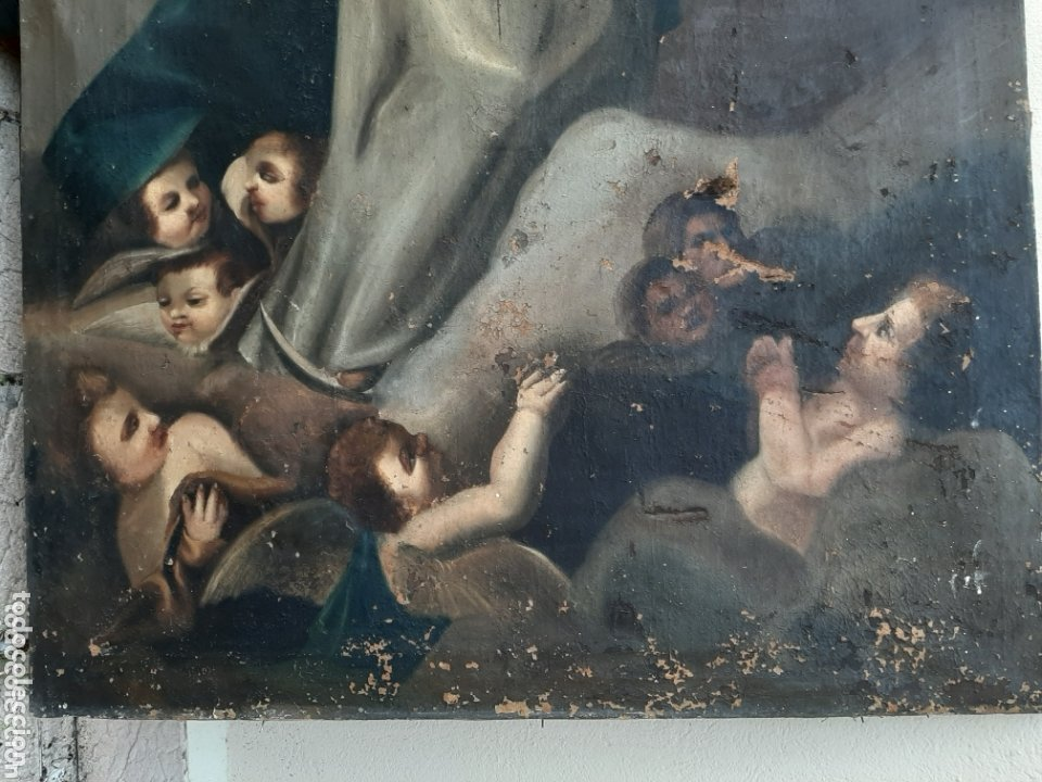 Arte: INMACULADA OLEO/LIENZO SIGLO XVIII, PARA RESTAURAR - Foto 2 - 173057342