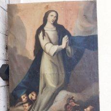 Arte: INMACULADA OLEO/LIENZO SIGLO XVIII, PARA RESTAURAR. Lote 173057342