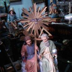 Arte: SANTÍSIMA TRINIDAD DE ESTUCO DE OLOT SELLADA. Lote 173174459