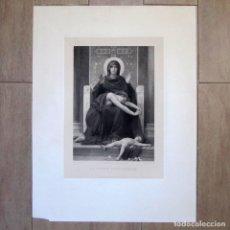 Arte: GRAN FOTOGRABADO LA VIERGE CONSOLATRICE, GOUPIL 1880 EN CARTULINA. Lote 173208447