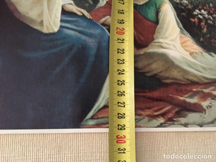 Arte: ESTAMPA ILUSTRACION JESUS JESUCRISTO CRISTO CON MARTA Y MARIA MAGDALENA EN CASA DE LAZARO 40,5 X 29 - Foto 3 - 210276682