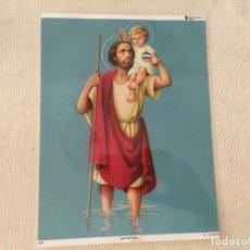 Arte: ILUSTRACION ESTAMPA SAN CRISTOBAL 27,5 X 20,5 CM. Lote 173440960