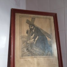 Arte: MUY ANTIGUO GRABADO DEL SANTÍSIMO CRISTO DEL PAÑO. Lote 161796586
