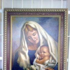Arte: VIRGEN CON EL NIÑO JESÚS. JOLOGA. LIENZO 65X54. MARCO INCLUIDO.. Lote 173559258