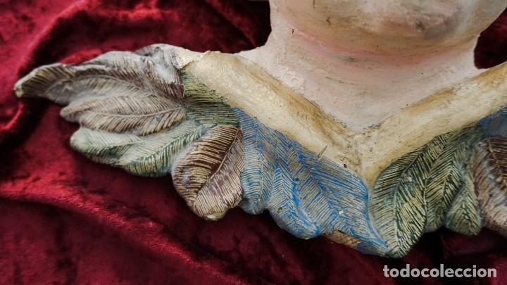 Arte: Cabeza de ángel de madera siglo XVIII - Foto 2 - 173648254