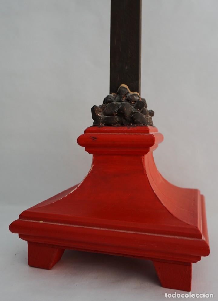 Arte: Cruz de altar madera tallada - Foto 2 - 173655598