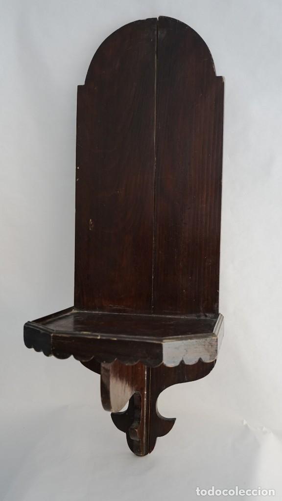REPISA CAPILLA MADERA TALLADA (Arte - Arte Religioso - Escultura)