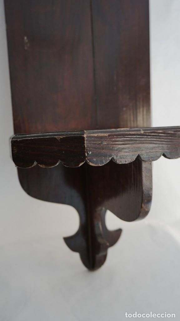 Arte: Repisa capilla madera tallada - Foto 2 - 173657127
