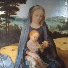 Arte: LÁMINA METALIZADA DE VIRGEN MARÍA Y NIÑO JESÚS POR ILUSTRACIONES DUFEX PRINTS ( ANTIGUA ). Lote 173666753