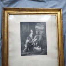 Arte: LITOGRABADO DE RAFAEL DE URBINO. DE JJ MARTINEZ G A LEMOINE (, SAGRADA FAMILIA) 58X64CTMS TOTAL E. Lote 173798899