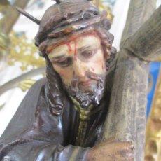Arte: GRAN PODER TALLA JESUS NAZARENO SIGLO XIX. Lote 173844469