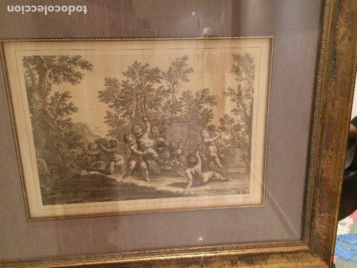 GRABADO ORIGINAL - ANGELES Y EL CABRON - MEDIDAS TOTALES 52,5 X 43 CMS. (Arte - Arte Religioso - Grabados)