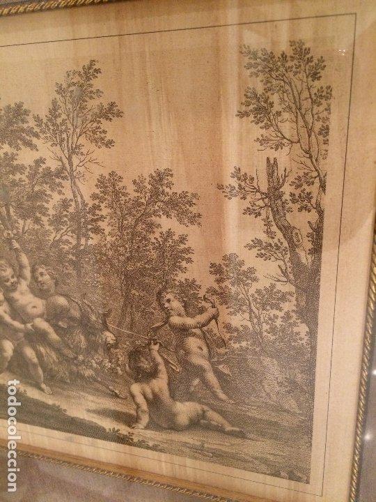 Arte: GRABADO ORIGINAL - ANGELES Y EL CABRON - MEDIDAS TOTALES 52,5 X 43 CMS. - Foto 3 - 173942450