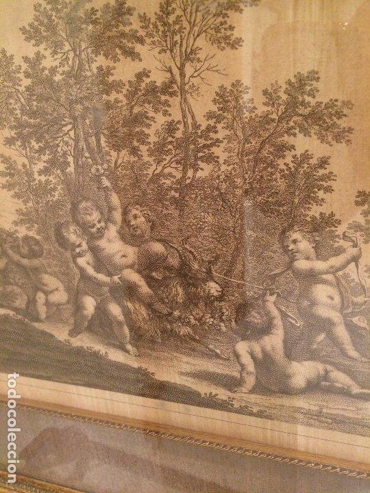 Arte: GRABADO ORIGINAL - ANGELES Y EL CABRON - MEDIDAS TOTALES 52,5 X 43 CMS. - Foto 4 - 173942450