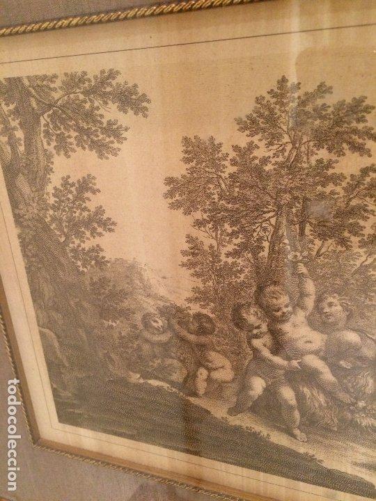 Arte: GRABADO ORIGINAL - ANGELES Y EL CABRON - MEDIDAS TOTALES 52,5 X 43 CMS. - Foto 5 - 173942450