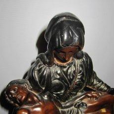 Arte: ANTIGUA ESCULTURA TERRACOTA JESUCRISTO EN BRAZOS VIRGEN PIEDAD DE MIGUEL ÁNGEL . Lote 173958203