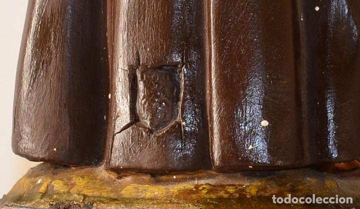 Arte: PRECIOSO SAN ANTONIO CON EL NIÑO EN BRAZOS ARTE DE OLOT - Foto 2 - 173999988
