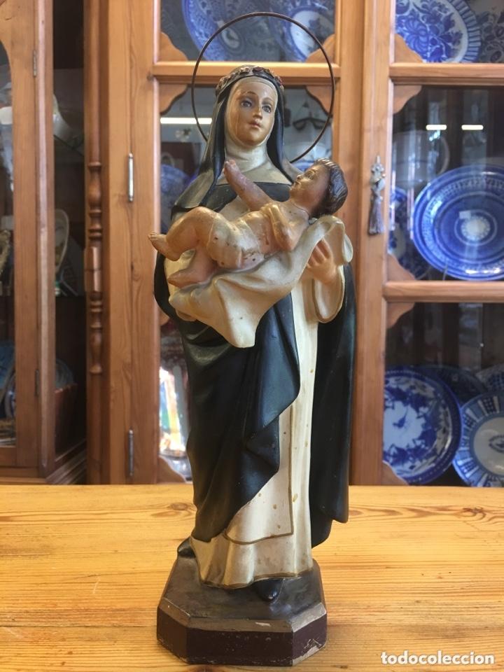 SANTA TERESA FIGURA ANTIGUA DE ARTE DE OLOT - ANÓNIMA MATÓ (Arte - Arte Religioso - Escultura)