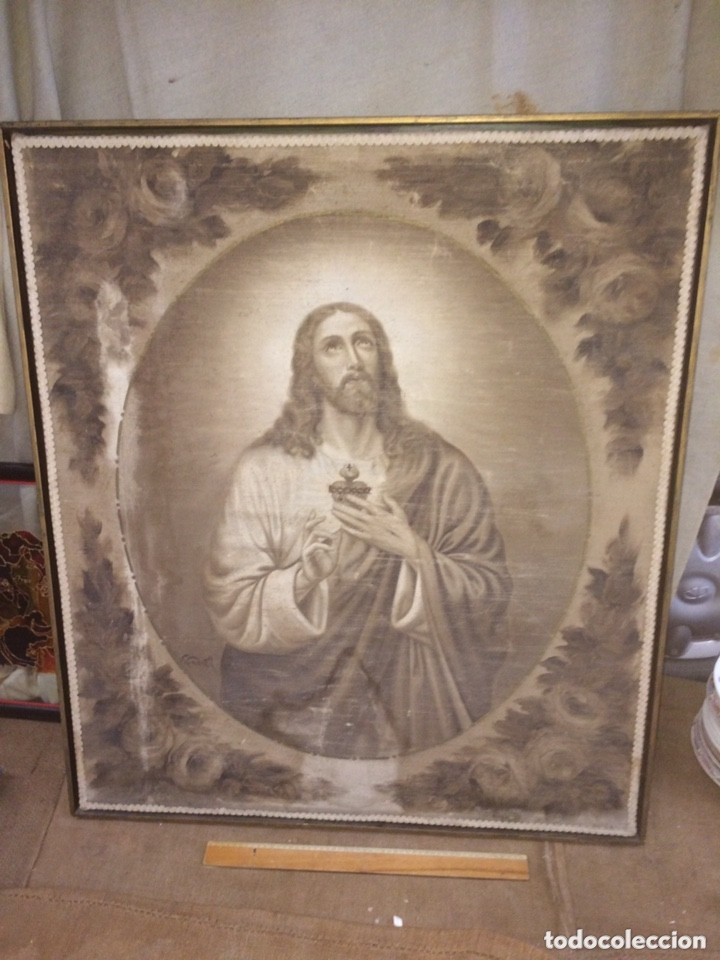 MUY ANTIGUO CUADRO DE IGLESIA(MEDIADOS 1800) (Arte - Arte Religioso - Pintura Religiosa - Oleo)