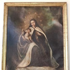 Arte: VIRGEN DEL CARMEN ÓLEO SIGLO XIX. Lote 174152067