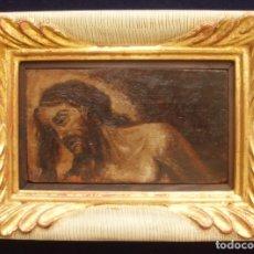 Arte: CRISTO, ATADO A LA COLUMNA. ÓLEO SOBRE TABLA. SIGLO XVIII. ENMARCADO.. Lote 174228749