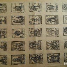 Arte: CURIOSO GRABADO IMPRESO EN BARCELONA A FINALES DEL S.XIX: ALELUYAS DE SANTOS EN CASTELLANO Y CATALÁN. Lote 174230032
