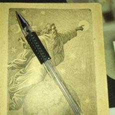 Arte: 1881 ANTIGUO GRABADO MINIATURA RELIGIOSO - DIOS - LA CREACION DEL MUNDO . Lote 174265129