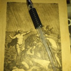Arte: 1881 ANTIGUO GRABADO MINIATURA RELIGIOSO - EL DILUVIO UNIVERSAL . Lote 174265347