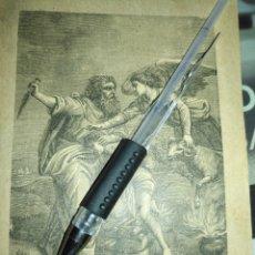 Arte: 1881 ANTIGUO GRABADO MINIATURA RELIGIOSO - SACRIFICIO DE ISAAC. Lote 174265389