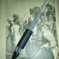 Arte: 1881 ANTIGUO GRABADO MINIATURA RELIGIOSO - JOSE VENDIENDO A SUS HERMANOS. Lote 174265420