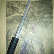 Arte: 1881 ANTIGUO GRABADO MINIATURA RELIGIOSO - EL REY DAVID . Lote 174265669