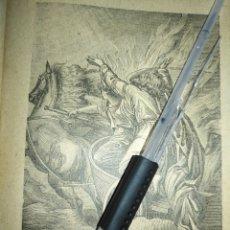 Arte: 1881 ANTIGUO GRABADO MINIATURA RELIGIOSO - ELIAS EL PROFETA. Lote 174265973