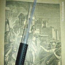 Arte: 1881 ANTIGUO GRABADO MINIATURA RELIGIOSO - LA DESTRUCCION DE JERUSALEN. Lote 174266020