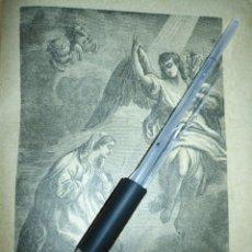 Arte: 1881 ANTIGUO GRABADO MINIATURA RELIGIOSO - LA ANUNCIACION DE LA VIRGEN. Lote 174266247