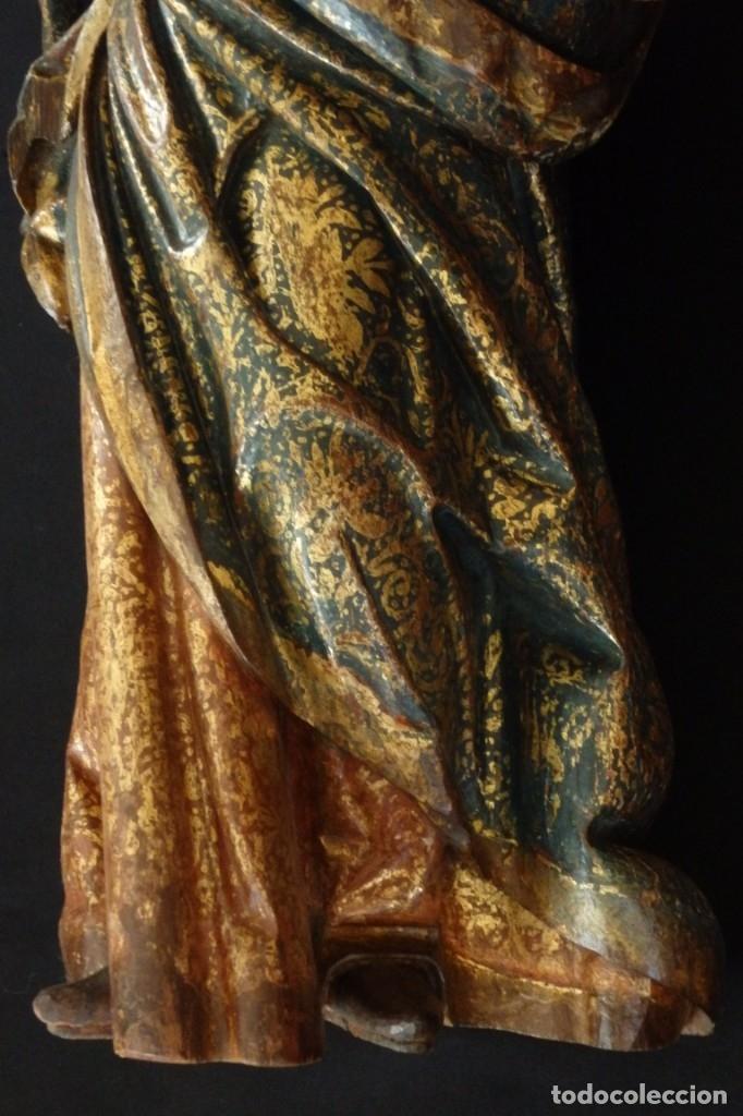 Arte: Santa Ana. Escultura del siglo XVII en madera tallada, estofada y dorada. Mide 74 cm de altura. - Foto 14 - 174268678