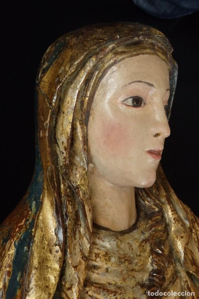 Arte: Santa Ana. Escultura del siglo XVII en madera tallada, estofada y dorada. Mide 74 cm de altura. - Foto 17 - 174268678