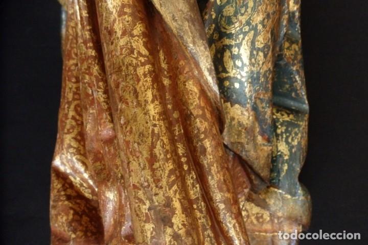 Arte: Santa Ana. Escultura del siglo XVII en madera tallada, estofada y dorada. Mide 74 cm de altura. - Foto 21 - 174268678