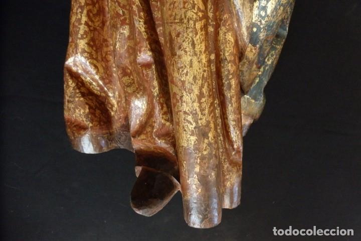 Arte: Santa Ana. Escultura del siglo XVII en madera tallada, estofada y dorada. Mide 74 cm de altura. - Foto 22 - 174268678