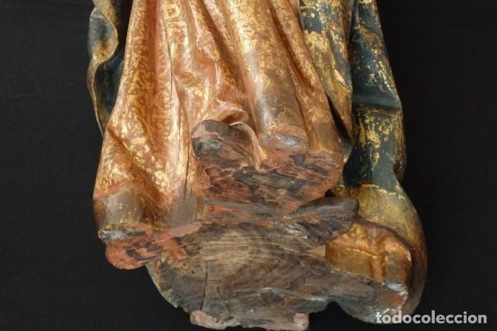 Arte: Santa Ana. Escultura del siglo XVII en madera tallada, estofada y dorada. Mide 74 cm de altura. - Foto 23 - 174268678