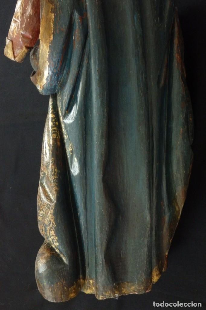 Arte: Santa Ana. Escultura del siglo XVII en madera tallada, estofada y dorada. Mide 74 cm de altura. - Foto 26 - 174268678