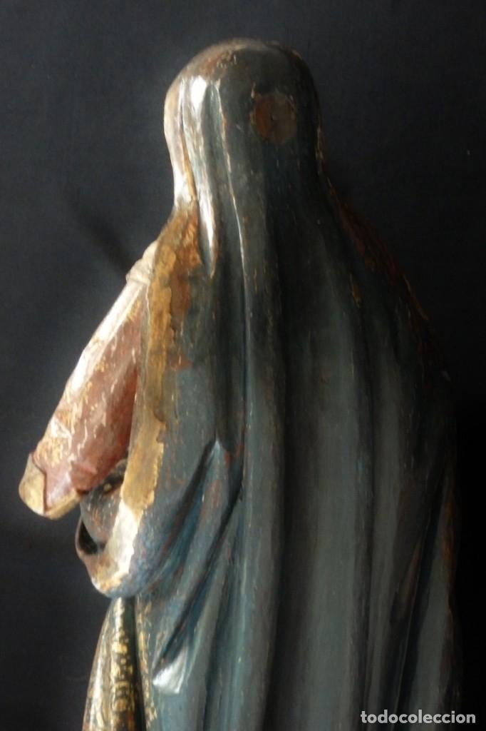 Arte: Santa Ana. Escultura del siglo XVII en madera tallada, estofada y dorada. Mide 74 cm de altura. - Foto 27 - 174268678